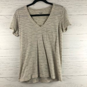 Madewell Whisper Cotton V Neck Pocket Front Tee